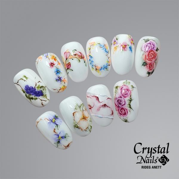 Új ! Flower Drops – Látványos, fátyol hatású minták AquaInk Crystal Drops-szal